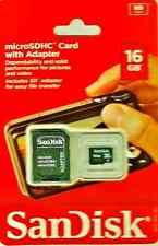 SanDisk microSDHC 16 GB Class 4 - MicroSDHC Card w/ SD Adapter