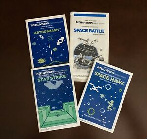 Bilingual Canadian Intellivision Manuals for Space Games From Mattel Electronics
