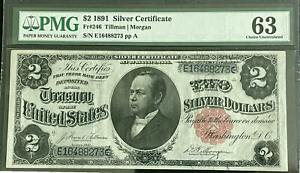 1891 $2 Windom Silver Certificate PMG Choice Uncirculated 63  FR #246
