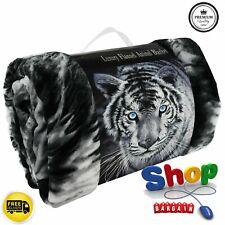 Super Suave Polar Manta Cobertor De Franela Animal Print De Lujo Cubierta De Sofá Cálido