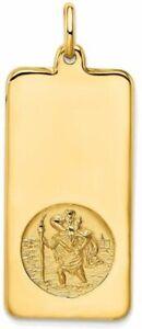Leslies 14k Yellow Gold Polished St. Christopher Dog Tag Charm