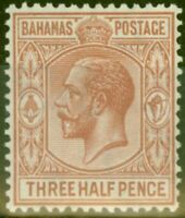 Bahamas 1934 1 1/2d Brown-Red SG117 V.F Very Lightly Mtd Mint