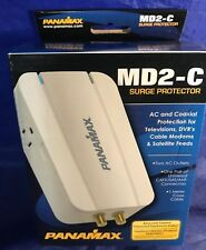 Panamax MD2-C, 2 Outlet Surge and Coax Protection, White, New