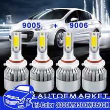 Tri-Color 9005 9006 Combo LED Headlight Bulbs For Honda Civic 04-13 Hi Lo Beam
