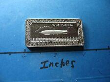 GRAF ZEPPELIN AIRSHIP DIRIGIBLE 1973 VINTAGE ONE MINT 999 SILVER BAR VERY RARE