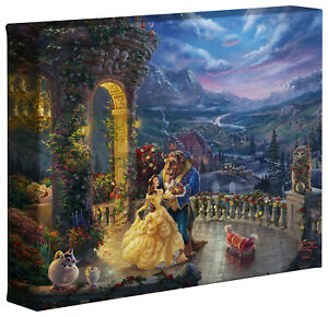 Thomas Kinkade Studios Beauty and the Beast Dancing in the Moonlight 8 x 10 Wrap