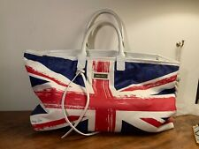 JIMMY CHOO  Union Jack canvas tote bag long USED