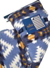 Pendleton Home blue / camel Sherpa to Fleece reversible Blanket throw 50 x 70