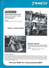 Farm Equipment Brochure - Tanco - Jackeroo - Buckets Rear Ram Loader (F5533)