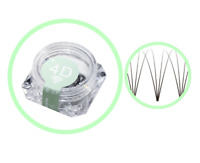 Pre-made Russian Volume Fan Lashes 4D WINK Mink Eyelash Extensions MAKE UP