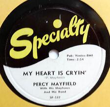 PERCY MAYFIELD & MAYTONES 78 My heart is cryin' SPECIALTY  Doowop vs139