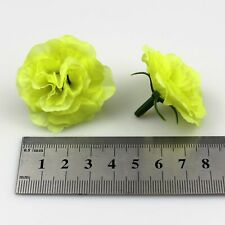 100X Lime Diy Artificial Fake Rose Silk Flower Head Wedding Home Garde Decor 4cm