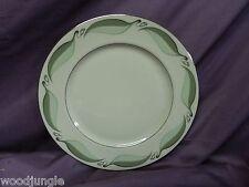Vintage FLINTRIDGE CHINA GREEN VALINDA LEAF LEAVES BORDER DINNER PLATE PLATTER