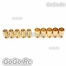 8 mm Gold Bullet Connector for Battery Motor Esc x 5 Pairs For Rc (By502-03)