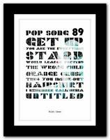 ❤  R.E.M. - Green ❤ typography poster art print - A1 A2 A3 or A4