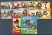 OLYMPIC MUNICH 1972 Guinea Ecuatorial Complete Set + Block MNH VF