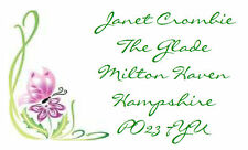42 Large Personalised Labels  Floral Design  21 per A4 sheet (Stickers)