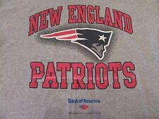 New England Patriots Flying Elvis Logo Bank Of america Gray T Shirt Size L