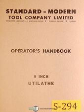 Standard Modern Tool 9 Inch, Utilathe, Operators Manual
