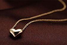 Fashion Women Gold Plated Heart Bib Statement Chain Pendant Jewelry NECKLACE USA