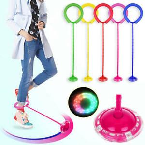 Blinkender Springring Glühender Springender Ball Skip-Bälle Spielzeug Fußkreisel