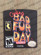 Conker's Bad Fur Day N64 Cartridge Replacement Label Sticker