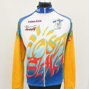 Costa Blanca Cycling Jersey Long Sleeve Top Kew-Rad Inovit Bold Vivid Vintage
