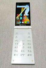 FREETEL MUSASHI DUAL SCREEN DISPLAY ANDROID5.1 FLIP PHONE UNLOCKED WHITE JAPAN