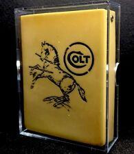 GIFT TIME! WW1 Era Poker Antique Gun Playing Cards Colt Case Bucephalus Logo