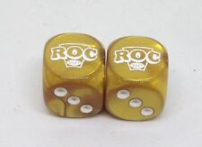 Heroclix CUSTOM 2017 ROC World Cup Gold ROC Dice (2)! Engraved