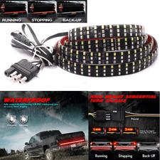 """60"""" Triple Row LED Tailgate Light Bar 3 Color Turn Signal Brake Reverse DRL Lamp"""
