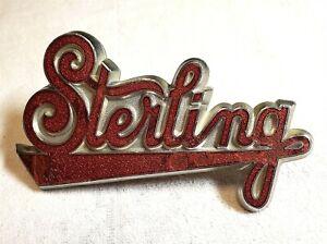 Original STERLING Truck Enamel Radiator Badge Emblem 1930-51 Auld VERY NICE