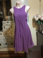 bf1c7b7d8b Beautiful Purple Silk Dress BIANCA SPENDER 100% Silk Size 6-8-10 Open