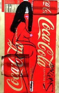 NUDE PAINTING original SWARTZMILLER DNA SIGNED Pop ART Outsider UPCYCLED COKE