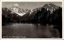 Mösener See Österreich Tirol AK 1939 Hocheder Alpen Berg gel. Stempel Seefeld
