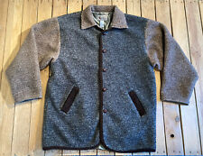 Vintage Raw Rags Men's Fleece button up Jacket size L IN brown/grey