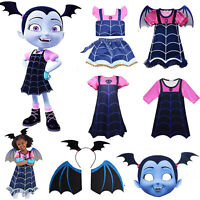 Vampirina Cosplay Costume Kids Girls Fancy Dress Halloween Clothes Outfits Party