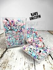 45g BABY UNICORN COLOURED EDIBLE CAKE SPRINKLES SMASH DONUTS DECORATIONS PARTY