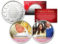 PRINCESS CHARLOTTE - Colorized Set of 2 Royal Canadian Mint Medallion Coins