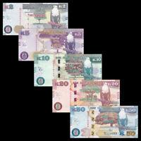 Zambia Set 5 PCS, 2,5,10,20,50 Kwacha, 2018, Banknotes, UNC