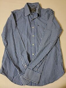 Abercrombie & Fitch Dress Shirt Size XL Striped Muscle Long Sleeve Button Down
