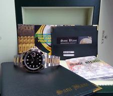 ROLEX - 18kt Gold & Stainless SUBMARINER Black Index Dial - 16613  SANT BLANC