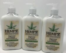 Hempz Limited Edition Sugarcane & Papaya Lotion Lot of 3