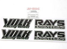 BLACK Rays Volk racing Wheel Stickers/decals x8,RWB/hellaflush/speed star/work/