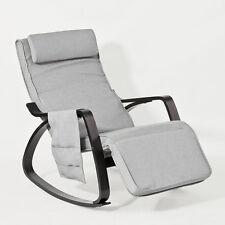 SoBuy® Fauteuil à bascule berçante relax avec pochette,Rocking Chair FST20-HG,FR