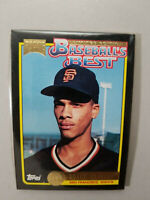 1992 McDonald's Baseball's Best Royce Clayton Giants Baseball Card Set SEALED.