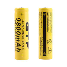 1pc 3.7V 18650 9800mAh Li-ion Rechargeable Battery For Flashlight Torch FS7