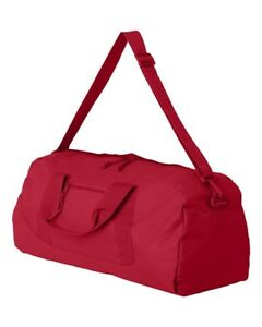 PERSONALIZED MONOGRAMMED RED DUFFEL GYM ATHLETIC WEEKENDER OVERNIGHT BAG