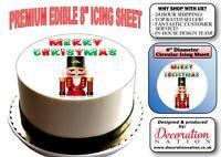 Merry Christmas - Nutcracker 8 INCH ICING Edible Cake Topper Decoration Xmas