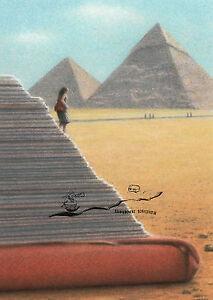 Kunstkarte / Postcard Art - Quint Buchholz;  Pyramiden / Pyramids